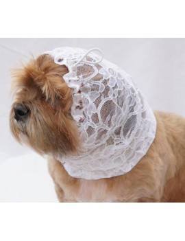 Snoods for small and medium breeds white