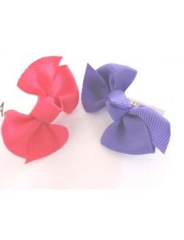 Noeuds tissus sur élastique, rose & violet Shih-Tzus, Yorks, Lhassas, Maltais, etc. Unitaire.