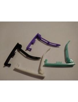 Barrettes/clip poils mi-fins à fins longs ou mi-longs par 2