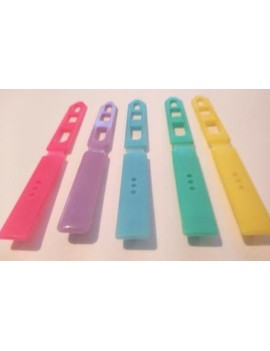 """Barrettes plates couleurs """"acidulées"""" unité"""
