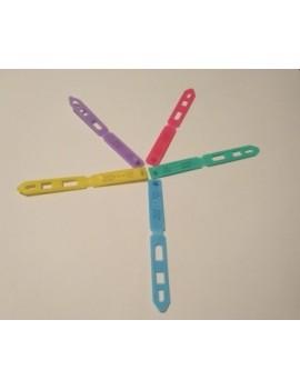 """Barrettes plates couleurs """"acidulées"""" par 4"""