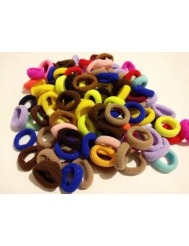 Chouchous couettes et toupet sachet de 8 couleurs